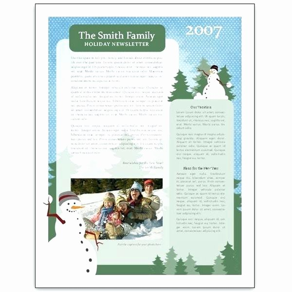 Free Holiday Newsletter Template Inspirational Templates Word Letter Template Printable Holiday Party