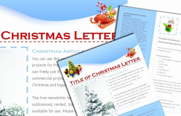 Free Holiday Newsletter Template Lovely Free Christmas Newsletter Templates for Word