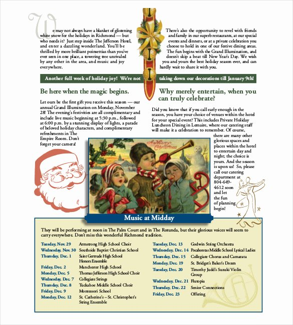 Free Holiday Newsletter Template New 14 Holiday Newsletter Template – Free Sample Example