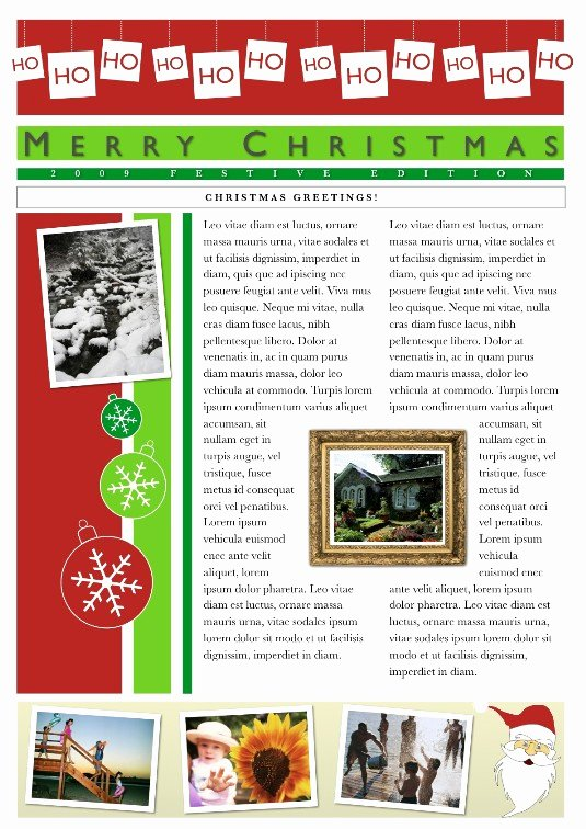Free Holiday Newsletter Template New 19 Free Christmas Letter Templates Downloads Free