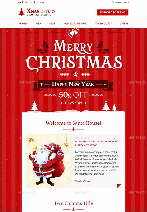 Free Holiday Newsletter Template New 27 Christmas Newsletter Templates Free Psd Eps Ai