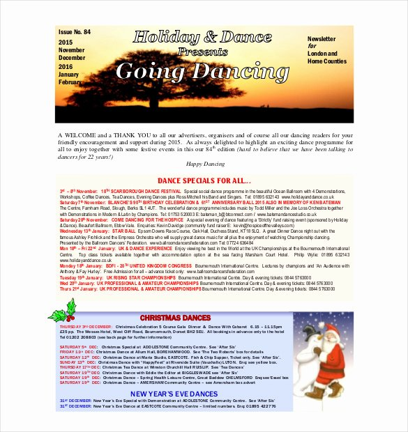 Free Holiday Newsletter Template Unique 14 Holiday Newsletter Template – Free Sample Example