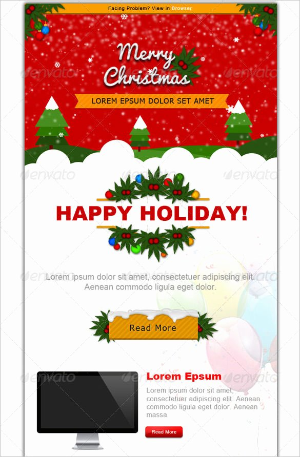 Free Holiday Newsletter Template Unique 38 Christmas Email Newsletter Templates Free Psd Eps