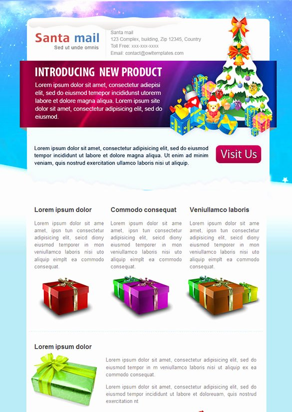Free Holiday Newsletter Template Unique 70 Christmas Email Templates – Free Psd Eps Ai HTML