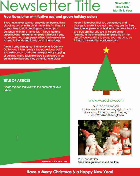 Free Holiday Newsletter Template Unique Christmas Email Templates for the Up Ing Holiday Mailing