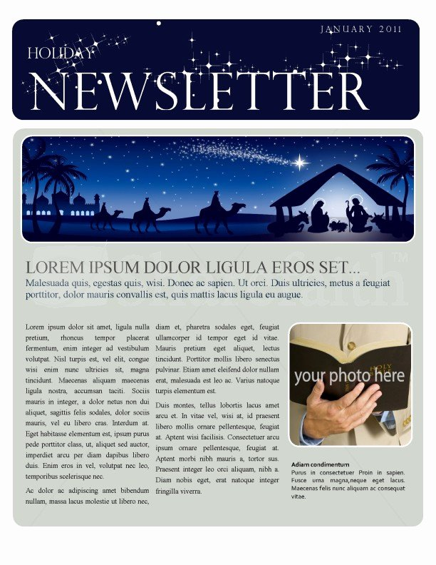 Free Holiday Newsletter Template Unique Christmas Newsletter Template Template
