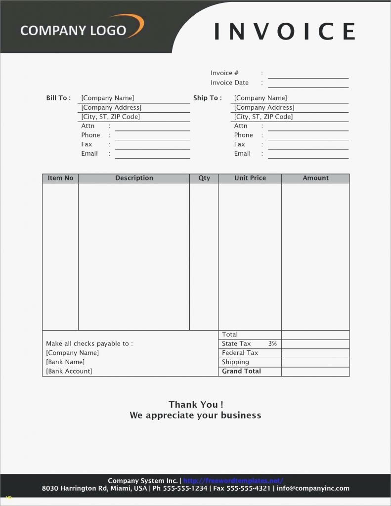 Free Hvac Invoice Template Awesome Free Hvac Invoice Template and Printable Blank