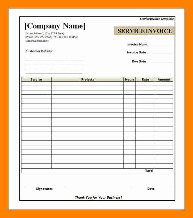 Free Hvac Invoice Template Inspirational 10 Free Printable Hvac Invoices