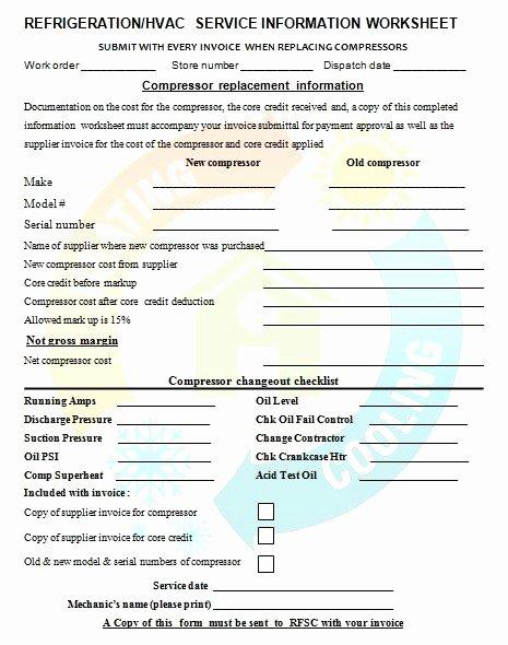 Free Hvac Invoice Template Inspirational Free Printable Invoice
