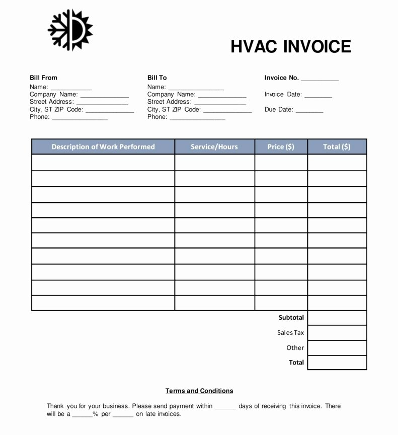 Free Hvac Invoice Template New Free Hvac Invoice Template for Resume Templatesc Invoice
