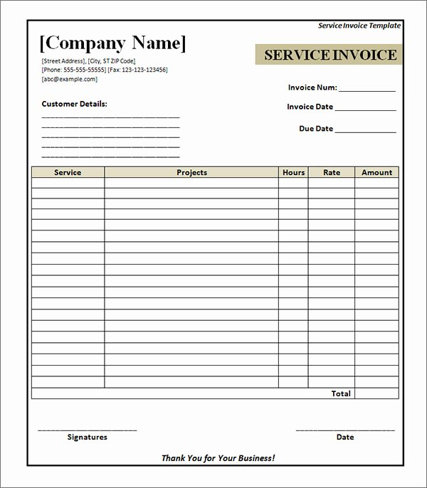 Free Hvac Invoice Template New Hvac Invoice Template