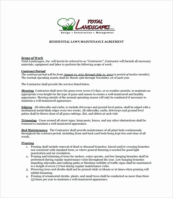 Free Hvac Maintenance Contract Template Awesome Preventive Maintenance Agreement Template – Hafer