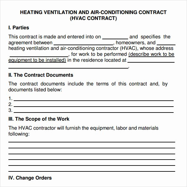 Free Hvac Maintenance Contract Template Elegant Service Agreement 7 Free Pdf Doc Download
