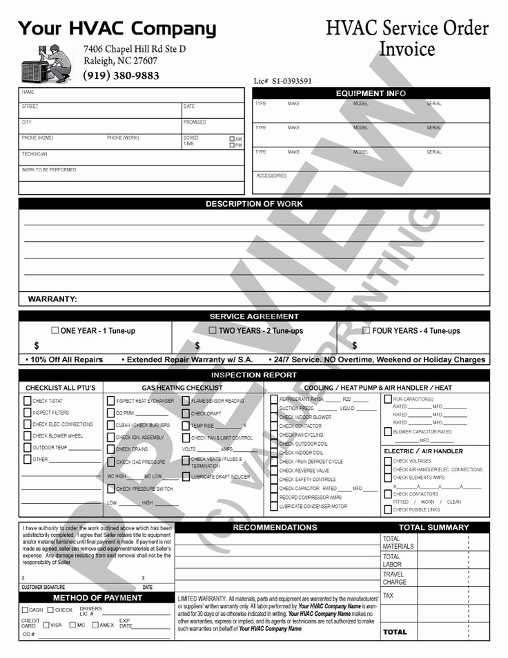Free Hvac Maintenance Contract Template New 51 Best Hvac forms Images On Pinterest