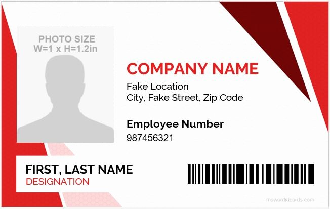Free Id Card Template Word Awesome 5 Best Employee Id Card format In Word