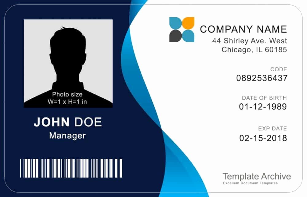 Free Id Card Template Word Best Of 16 Id Badge & Id Card Templates Free Template Archive