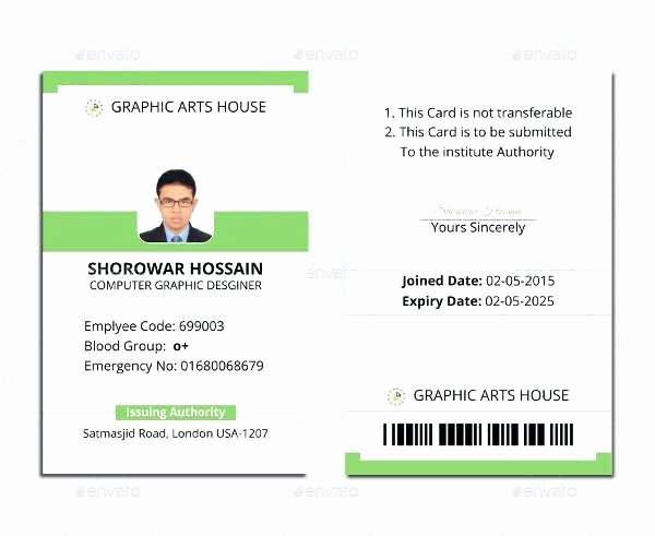 photo id card template 5 best office templates ms word with regard to employee