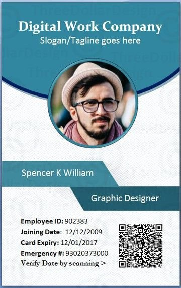 Free Id Card Template Word Elegant Employee Id Card Template Microsoft Word