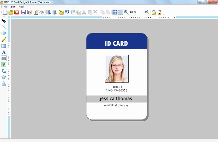 Free Id Card Template Word Elegant Id Maker software Creates Pany Employees Student