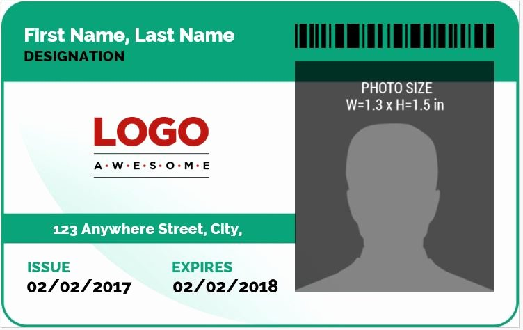Free Id Card Template Word Luxury Ms Word Id Badge Sample Template