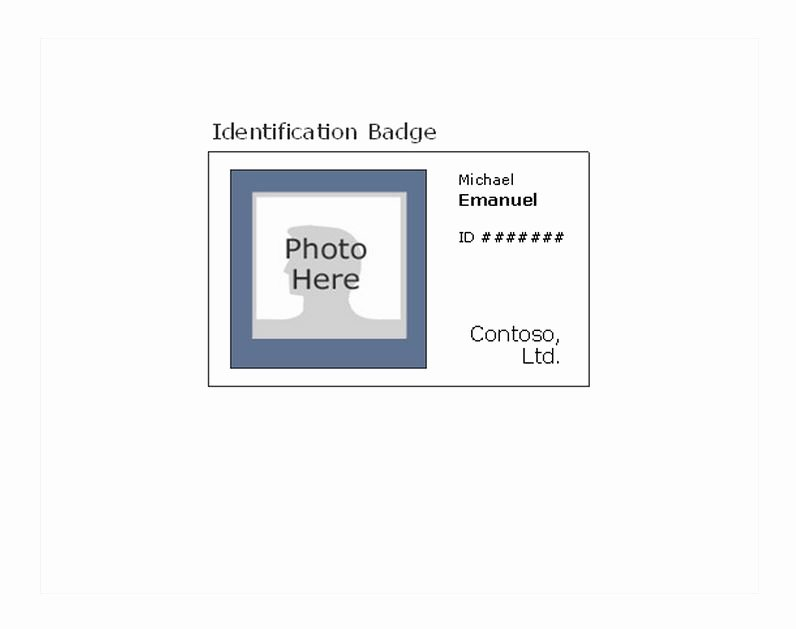 Free Id Card Template Word Luxury Printable Id Badges