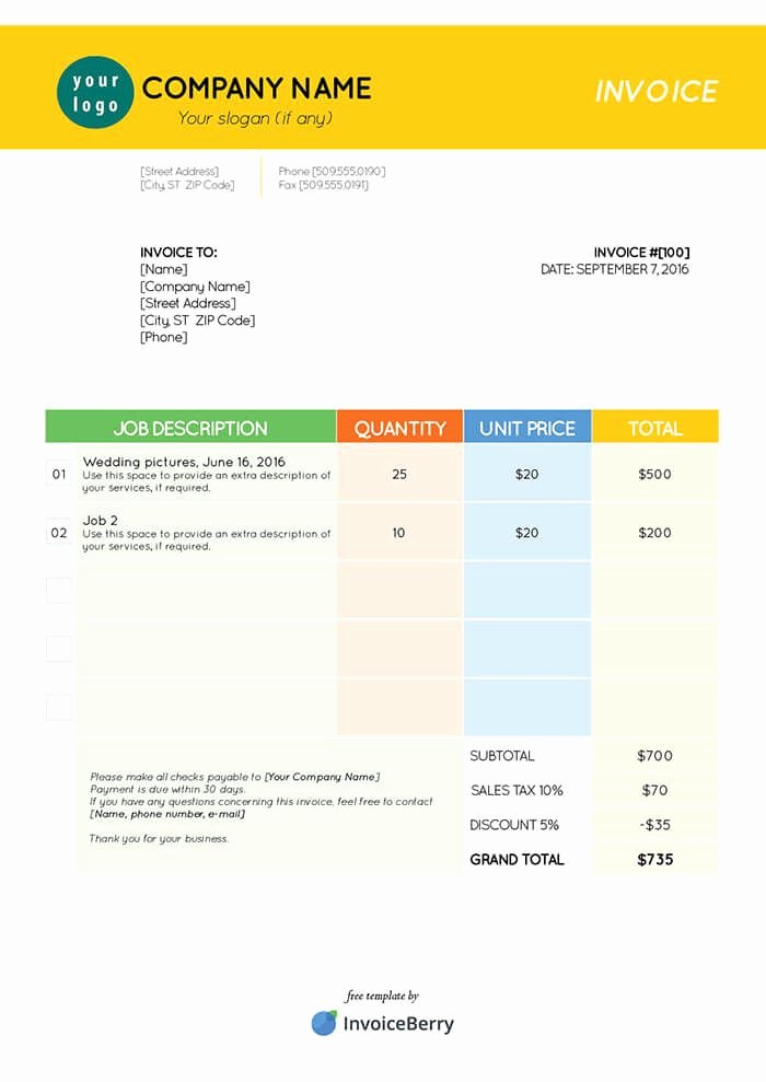 Free Indesign Invoice Template Best Of 40 Best Images About Invoice Templates On Pinterest