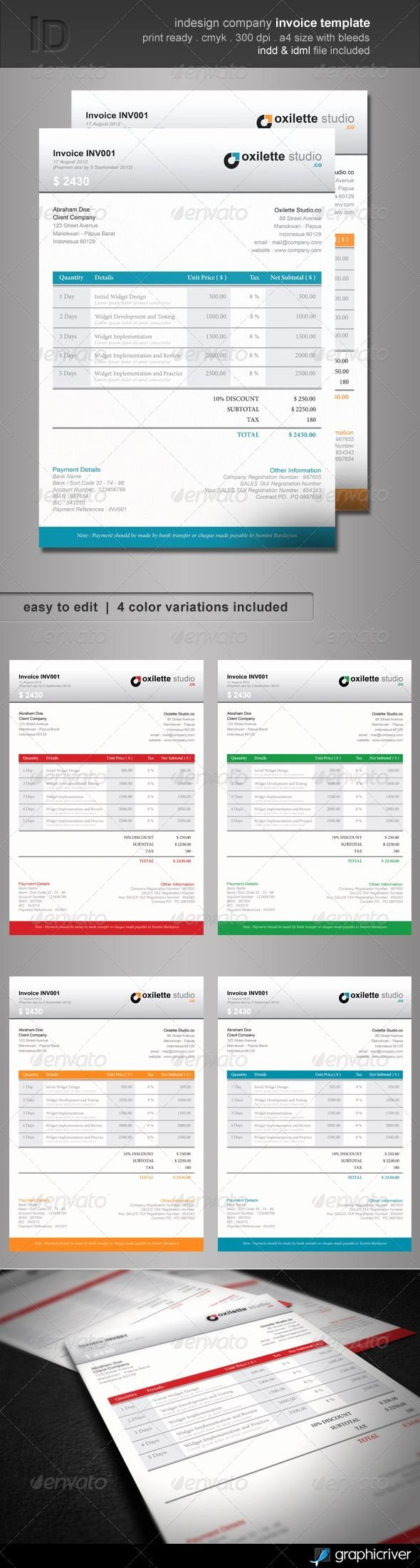 Free Indesign Invoice Template Fresh Indesign Invoice Template Free Invoice Template Ideas