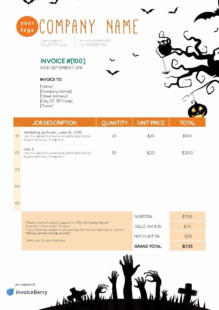 Free Indesign Invoice Template Inspirational Free Indesign Invoice Templates