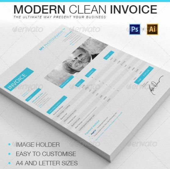 Free Indesign Invoice Template Unique Contoh Invoice Desain Modern Faktur Ncr Percetakan Karawang