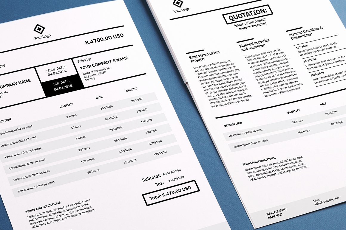 Free Indesign Invoice Template Unique Invoicing Template Indesign Stationery Templates On