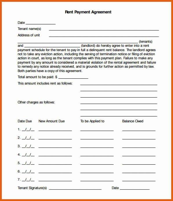 Free Installment Payment Agreement Template Fresh Free Payment Agreement Template Picture – Payment