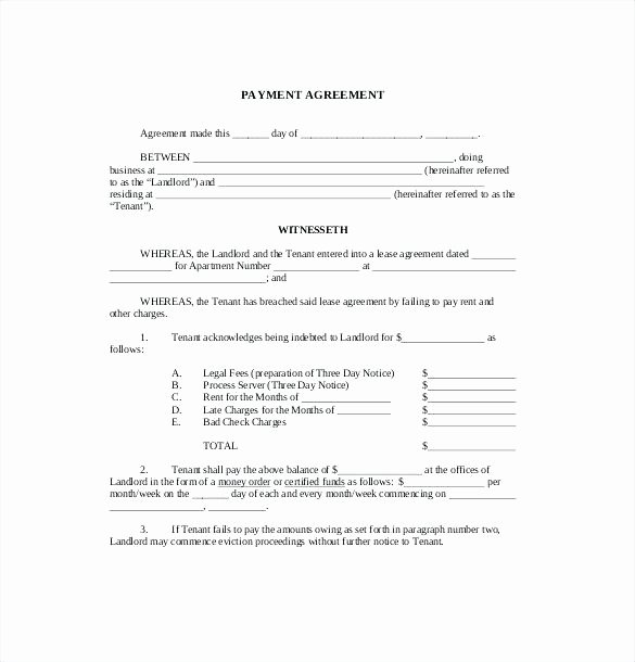Free Installment Payment Agreement Template Fresh Full Size Medium Template Installment Payment