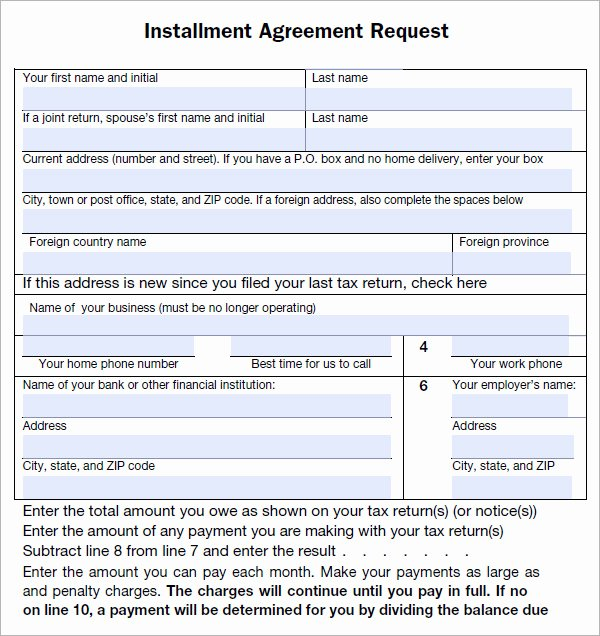 Free Installment Payment Agreement Template Fresh Installment Agreement 5 Free Pdf Download