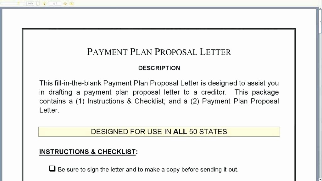 Free Installment Payment Agreement Template Lovely Free Payment Arrangement Letter Template Plan Proposal