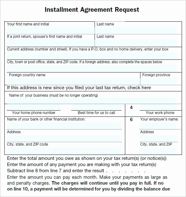 Free Installment Payment Agreement Template Luxury Installment Payment Agreement Letter – Template Gbooks