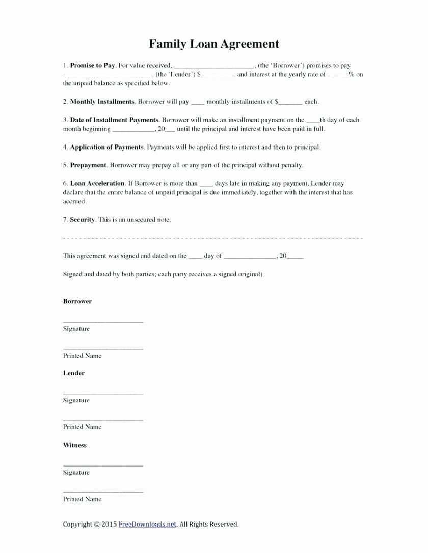 Free Installment Payment Agreement Template New Template Payment Installment Agreement Template