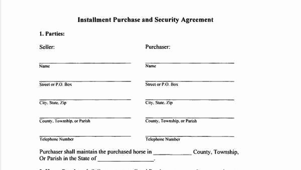 Free Installment Payment Agreement Template Unique 8 Installment Agreement Sample forms Free Sample