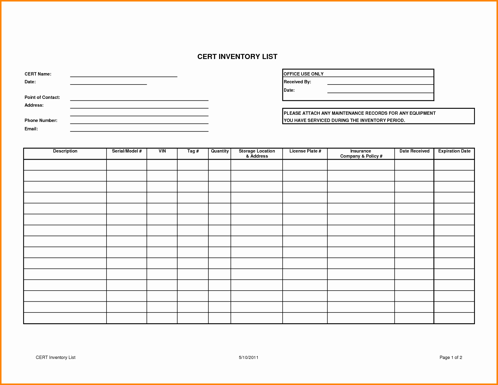 Free Inventory Spreadsheet Template Awesome Sample Inventory List Bamboodownunder