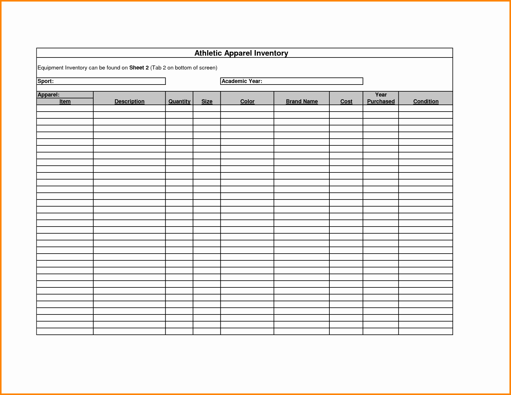 Free Inventory Spreadsheet Template Elegant Inventory Spreadsheet Template Inventory Spreadsheet