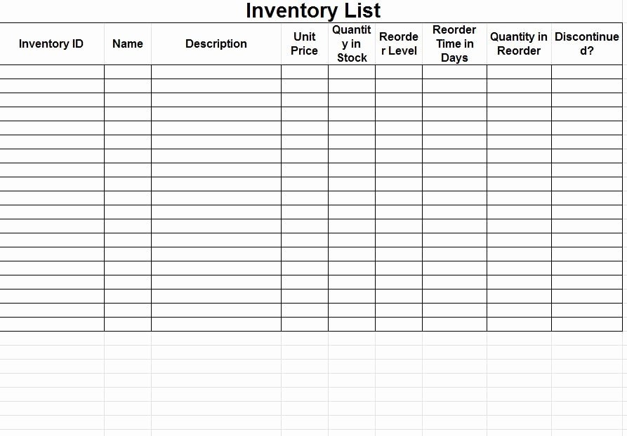 Free Inventory Spreadsheet Template Elegant Inventory Tracking Spreadsheet Template