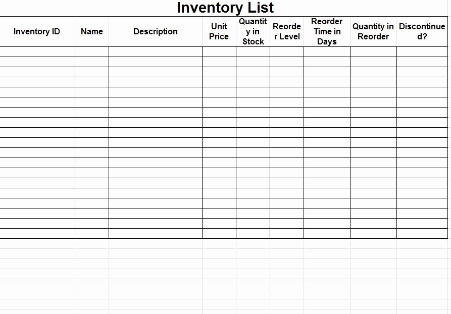 Free Inventory Spreadsheet Template Fresh Inventory Sheet Template