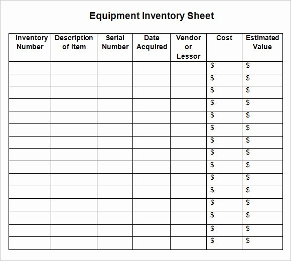 Free Inventory Spreadsheet Template Luxury 8 Sample Inventory Sheets