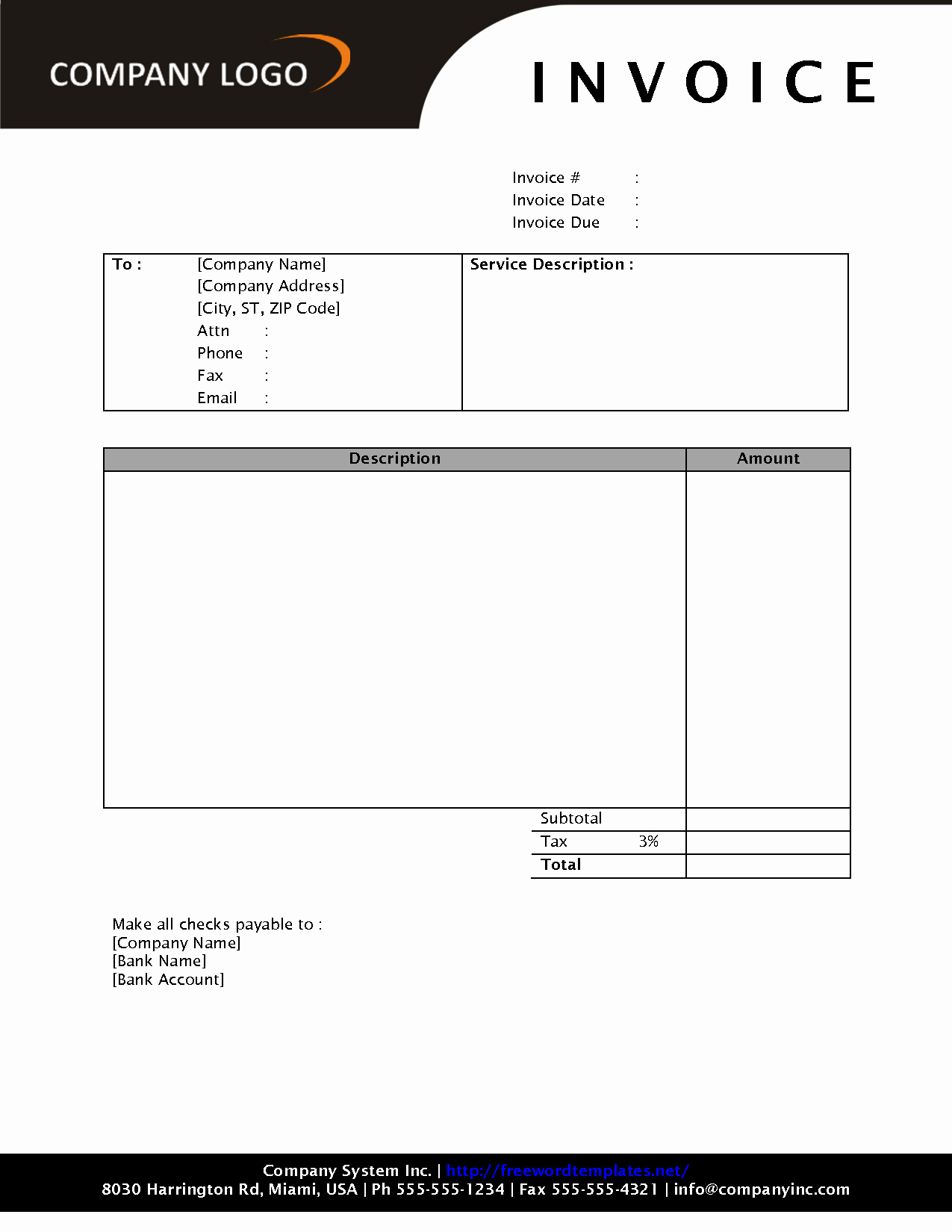Free Invoice Receipt Template Awesome Free Download Invoice Template