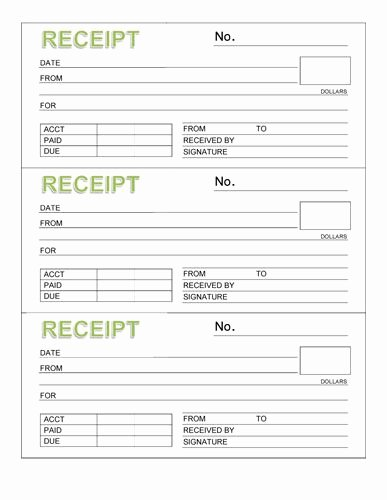 Free Invoice Receipt Template Beautiful 3 Rent Receipt Book with Header organizing Ideas