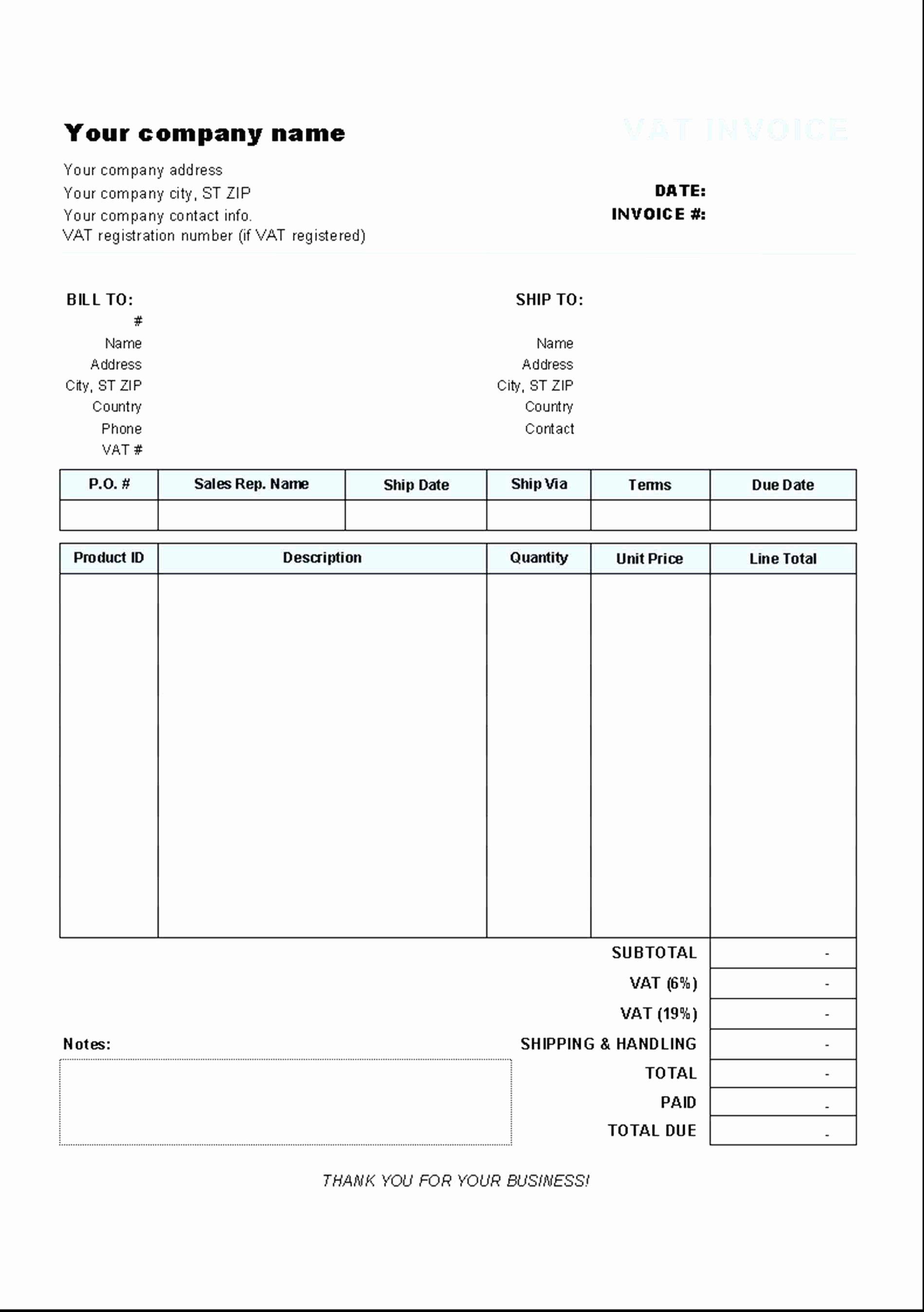 Free Invoice Receipt Template Beautiful Tax Invoice Receipt Template