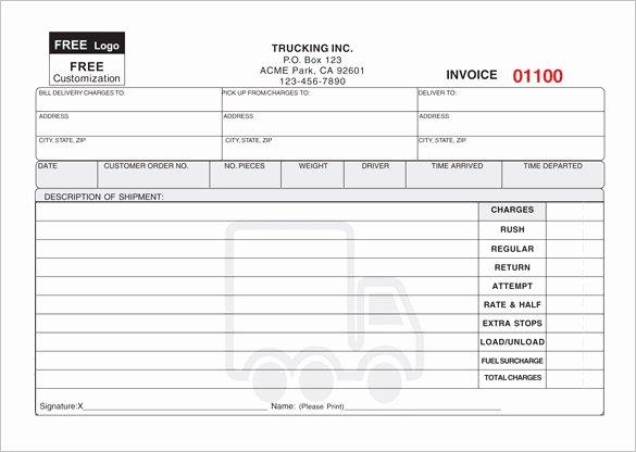 Free Invoice Receipt Template Fresh Courier Invoice Template Rusinfobiz