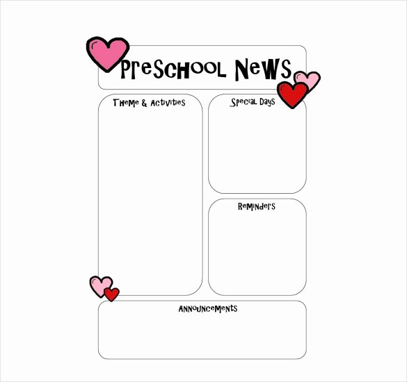 Free Kindergarten Newsletter Template Awesome 10 Preschool Newsletter Templates – Free Sample Example