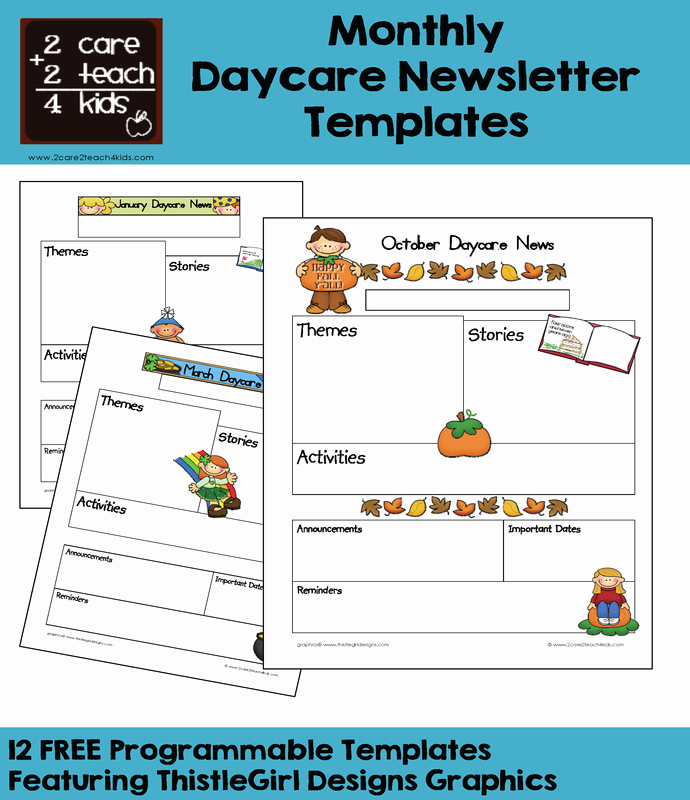 Free Kindergarten Newsletter Template Beautiful Child Care Newsletters Free Printable Templates