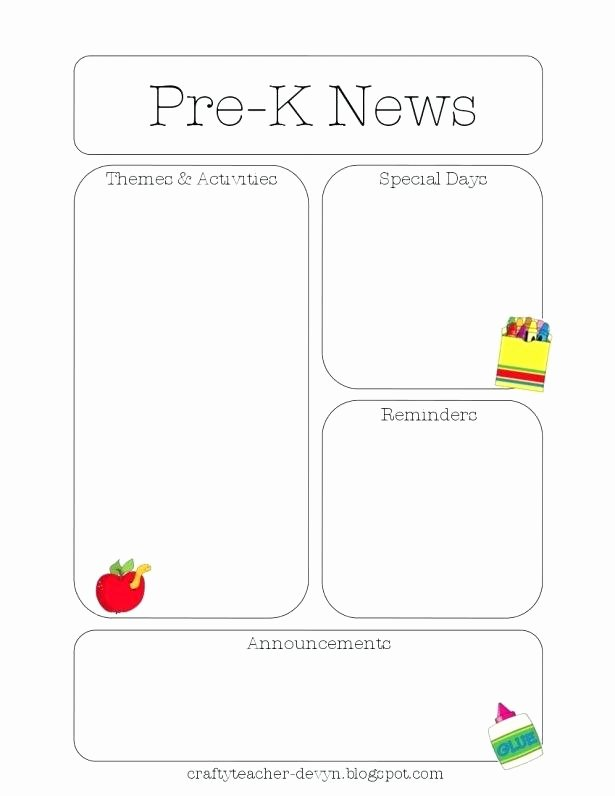 Free Kindergarten Newsletter Template Best Of October Newsletter Template – Flybymedia