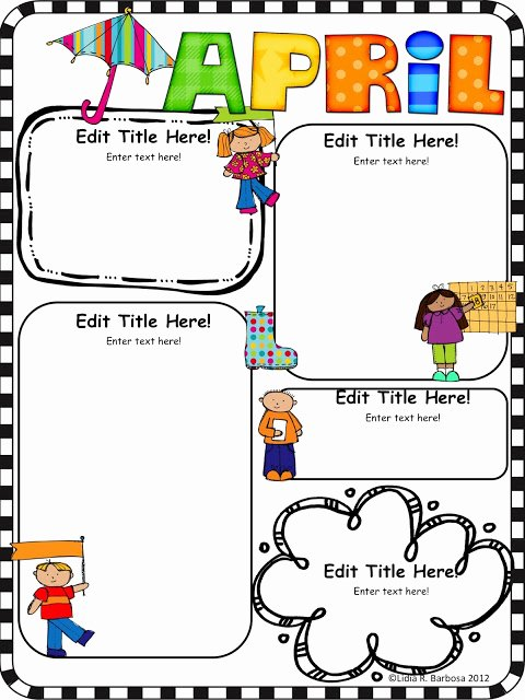 Free Kindergarten Newsletter Template Elegant Kinder Alphabet